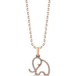 Łańcuszki męskie: PROMOCJA Złoty Wisiorek - złoto różowe 333, Diament 0,09ct
