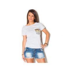 Damski T-shirt Simply Unique GREY. Szare t-shirty damskie marki beYOUnique, xs, w kolorowe wzory, z bawełny. Za 107,00 zł.