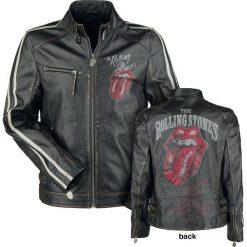 The Rolling Stones EMP Signature Collection Kurtka skórzana czarny. Czarne kurtki męskie bomber The Rolling Stones, l, z aplikacjami, ze skóry. Za 812,90 zł.