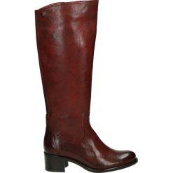 Buty zimowe damskie: Kozaki - 46535FY O RED
