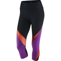 Legginsy sportowe damskie: legginsy damskie 3/4 NIKE LEGENDARY CAPRI FABRIC TWIST / 725080-010 - NIKE LEGENDARY CAPRI FABRIC TWIST