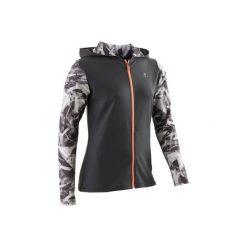 Bluza S900. Szare bluzy dziewczęce marki DOMYOS, z elastanu, z kapturem. Za 64,99 zł.
