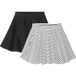 Spódnica (2 szt.) bonprix czarno-biały. Czarne spódniczki dziewczęce marki bonprix, w paski. Za 35,98 zł.