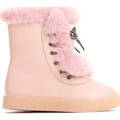 Różowe Śniegowce Baby Girl. Czerwone kozaki dziewczęce marki Born2be. Za 69,99 zł.
