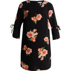 Sukienki hiszpanki: Dorothy Perkins Petite FLORAL FLUTE SLEEVE SHIFT DRESS Sukienka letnia black