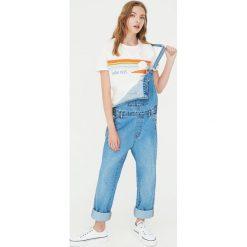 Koszulka vintage ze słońcem. Szare t-shirty damskie Pull&Bear, s. Za 29,90 zł.