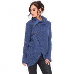 """Kardigan """"Stone"""" w kolorze niebieskim. Niebieskie kardigany damskie marki Cosy Winter, s, ze splotem. W wyprzedaży za 181,95 zł."""