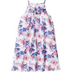 Sukienki dziewczęce: Sukienka szyfonowa bonprix biel wełny z nadrukiem
