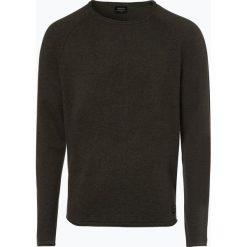 Jack & Jones - Sweter męski – Eunion, zielony. Czarne swetry klasyczne męskie marki Jack & Jones, l, z bawełny, z klasycznym kołnierzykiem, z długim rękawem. Za 99,95 zł.