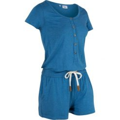 Kombinezony damskie: Kombinezon, krótkie nogawki bonprix niebieski oceaniczny melanż