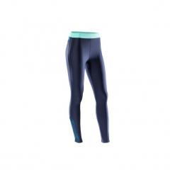 Legginsy fitness kardio 500 damskie. Niebieskie legginsy sportowe damskie DOMYOS, l, z elastanu. W wyprzedaży za 49,99 zł.