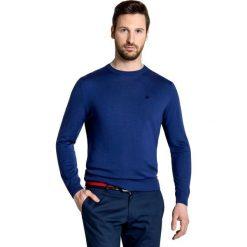 Sweter PIETRO SWGxGxx-0015SP. Niebieskie swetry klasyczne męskie marki Giacomo Conti, m, z tkaniny, klasyczne. Za 199,00 zł.