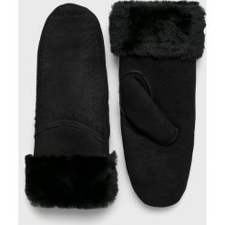 Emu Australia - Rękawiczki skórzane. Szare rękawiczki damskie marki EMU Australia, z gumy. Za 429,90 zł.