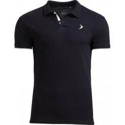 Koszulka polo męska TSM610 - czarny - Outhorn. Czarne koszulki polo marki Outhorn, na lato, m, z bawełny. W wyprzedaży za 39,99 zł.