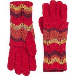Rękawiczki damskie: Art of Polo Rękawiczki damskie w melanżach jesiennych czerwone (rk13160)