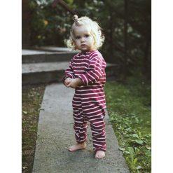 Kombinezon peach. Pomarańczowe kombinezony niemowlęce marki Pakamera, z bawełny, z długim rękawem. Za 110,00 zł.