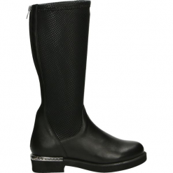 Kozaki - 679946 BLACK. Czarne buty zimowe damskie Venezia, ze skóry. Za 359,00 zł.