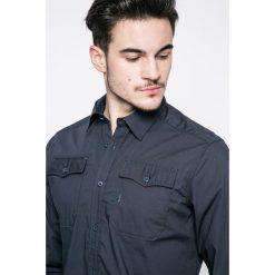 G-Star Raw - Koszula. Szare koszule męskie na spinki marki G-Star RAW, s, z bawełny, z klasycznym kołnierzykiem, z długim rękawem. W wyprzedaży za 269,90 zł.