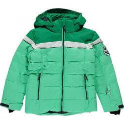 Kurtka narciarska w kolorze zielonym. Zielone kurtki dziewczęce przeciwdeszczowe marki CMP Kids, z materiału. W wyprzedaży za 277,95 zł.