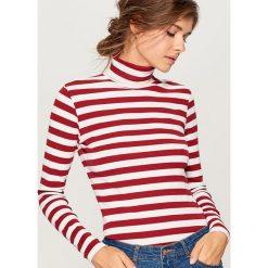 Cienki sweter z golfem - Brązowy. Brązowe golfy damskie marki Mohito, l. Za 49,99 zł.