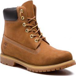 Trapery TIMBERLAND - 6In Prem 10360 Rst. Brązowe buty zimowe damskie marki Timberland, z gumy. W wyprzedaży za 569,00 zł.