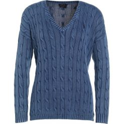 Swetry klasyczne damskie: Polo Ralph Lauren SIDE SLIT Sweter indigo