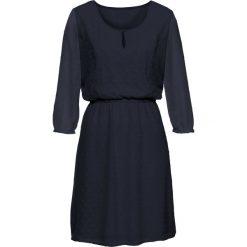 Sukienki: Sukienka w strukturalny wzór bonprix ciemnoniebieski
