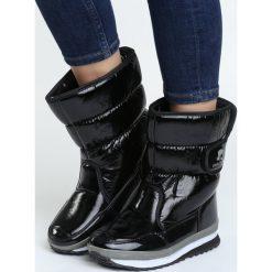 Czarne Śniegowce Coldly. Czarne buty zimowe damskie marki TOMMY HILFIGER, z materiału. Za 79,99 zł.