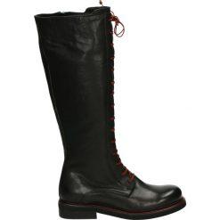 Kozaki - 4382 WES NERO. Czarne buty zimowe damskie Venezia, ze skóry. Za 789,00 zł.