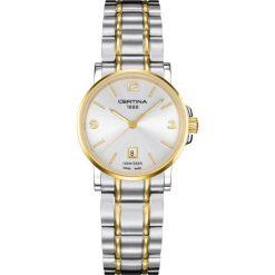 PROMOCJA ZEGAREK CERTINA. Szare zegarki damskie CERTINA, złote. W wyprzedaży za 1227,60 zł.