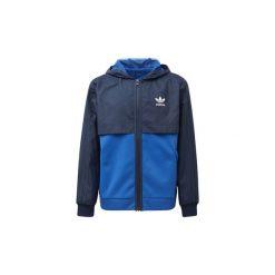Bluzy dresowe Dziecko adidas  Bluza z kapturem na suwak. Niebieskie bluzy chłopięce rozpinane marki Adidas, z dresówki. Za 139,50 zł.