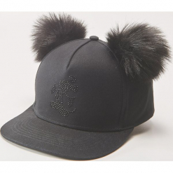 Czapka z daszkiem Mickey Mouse - Czarny. Czarne czapki z daszkiem damskie House, z motywem z bajki. Za 39,99 zł.