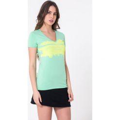 T-shirty damskie: T-shirt w kolorze miętowym