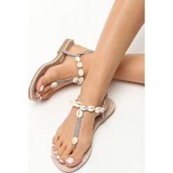 Rzymianki damskie: Jasnobeżowe Sandały Little Seashell
