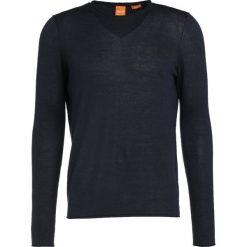 BOSS Orange KAMIRO SLIM FIT Sweter dark blue. Niebieskie kardigany męskie BOSS Orange, m, z bawełny. W wyprzedaży za 343,20 zł.