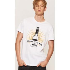 T-shirty męskie: T-shirt z zabawnym nadrukiem - Biały