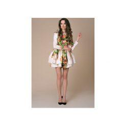 Sukienka Mini Azalea Bloosom Ombre. Szare sukienki mini Nat fashion room, na co dzień, na wiosnę, uniwersalny, z bawełny, dopasowane. Za 390,00 zł.