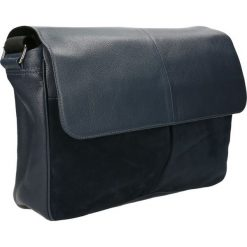 Listonoszka PAC. Niebieskie torby na ramię męskie Gino Rossi, m, w paski, ze skóry. Za 449,90 zł.
