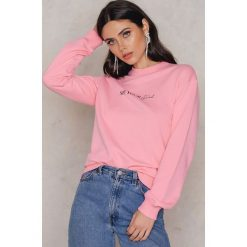 Bluzy damskie: Statement By NA-KD Influencers Bluza Linn Ahlborg - Pink