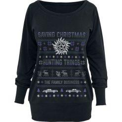 Bluzy rozpinane damskie: Supernatural Saving Christmas Bluza czarny
