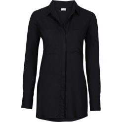 Bluzki asymetryczne: Długa bluzka bonprix czarny