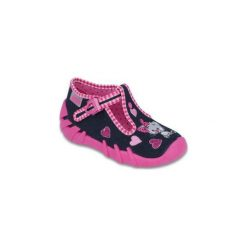 Różowe Granatowe Tekstylne Buty Befado rozmiar 18. Czerwone buciki niemowlęce chłopięce Befado, z bawełny. Za 47,80 zł.