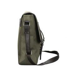 DIEGO Torba męska listonoszka na ramię Zielona. Zielone torby na ramię męskie Solier, w paski, z tkaniny. Za 109,90 zł.