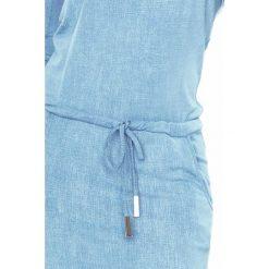 Klara Sukienka sportowa - Wiskoza - BARDZO JASNY jeans. Niebieskie sukienki na komunię numoco, na imprezę, s, z jeansu, sportowe, sportowe. Za 109,00 zł.