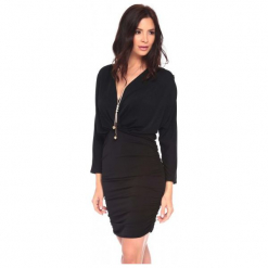 La Belle Parisienne Sukienka Damska Anna M Czarna. Czarne sukienki z falbanami marki Fille Du Couturier. Za 145,00 zł.