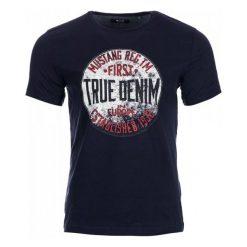 T-shirty męskie: Mustang T-Shirt Męski L Ciemnoniebieski