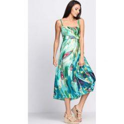 Sukienki: Miętowa Sukienka Disco Night