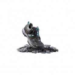 Buty turystyczne niskie Mountain Hiking 100 WTP damskie. Szare buty trekkingowe damskie QUECHUA. Za 169,99 zł.