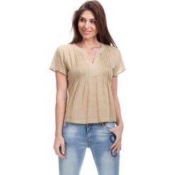 Bluzki asymetryczne: Bluzka w kolorze beżowym