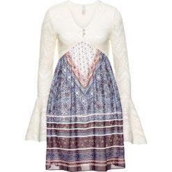 Sukienki: Sukienka bonprix beżowy z nadrukiem